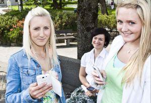 Foto Dalane Tidende: Gudrun Kanestrøm (t.v.) og Marita Moi vil gjerne være med på fotokonkurransen på Instagram i anledning stemmerettsjubileet. Unn Therese Omdal, i bakgrunnen, er med i juryen. FOTO: Frøydis Bredeli
