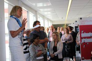 Liv Fredriksen har appell på arbeidsplassmarkering i Rogaland fylkeskommune. Foto Gudrun Karina Arntsen