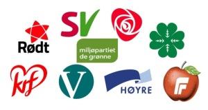 Partier - til valgmøte på rosenkilden