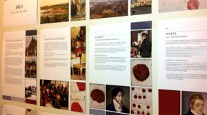 Utsnitt av plakatutstillinget. Foto fra Stortingets nettsider.