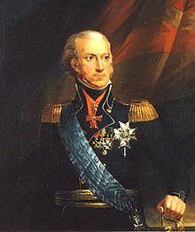 Konge nr 2 i 1814: Kong Carl XIII av Sverige, også kjent som Karl II i Norge. Ble valgt til  Norges konge 4. november 1814.  Malt av: Carl Fredric von Breda