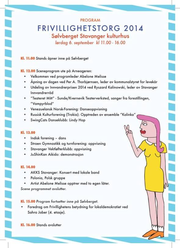 Ptogram for Fivillighetsttorg 6. september