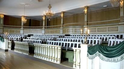Den gamle stortingssalen, der Stortinget for første gang i historien trådte sammen 7. oktober 1814. Foto: Anne-Lise Reinsfelt, Norsk Folkemuseum.