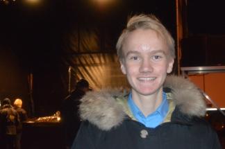Sandnes unge ordfører Daniel Røvik holdt apell på vegne av undommen på Sandnes havn. Foto: B. Møen